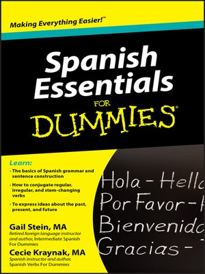 cover image of Spanish Essentials For Dummies