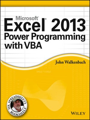 cover image of Excel 2013 Power Programming with VBA