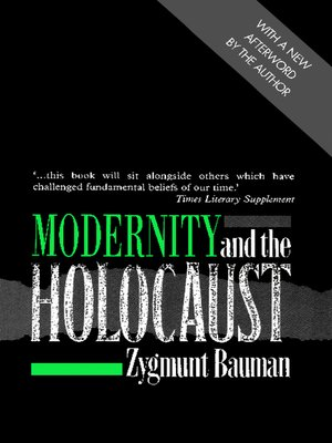 modernity and the holocaust zygmunt bauman pdf