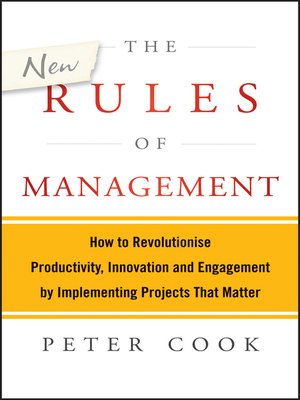 cover image of The New Rules of Management