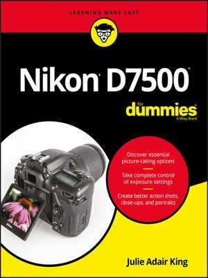 cover image of Nikon D7500 For Dummies