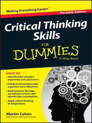 cover image of Critical Thinking Skills For Dummies