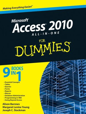 cover image of Access 2010 All-in-One For Dummies