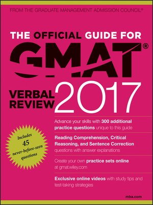 cover image of The Official Guide for GMAT Verbal Review 2017 with Online Question Bank and Exclusive Video