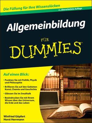 cover image of Allgemeinbildung für Dummies
