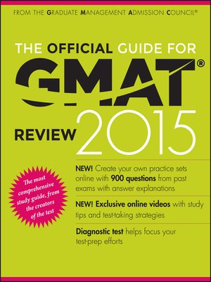 cover image of The Official Guide for GMAT Review 2015 with Online Question Bank and Exclusive Video