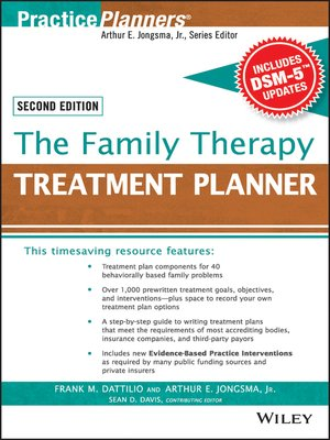 cover image of The Family Therapy Treatment Planner, with DSM-5 Updates
