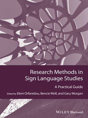 cover image of Research Methods in Sign Language Studies