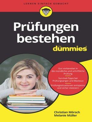 cover image of Prüfungen bestehen für Dummies