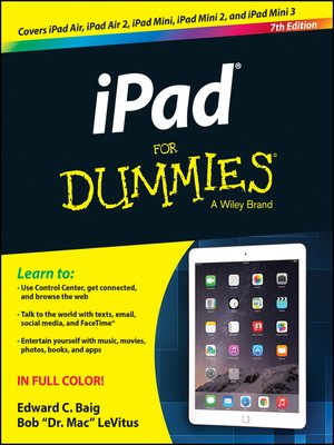 ipad air 2 instructions for dummies