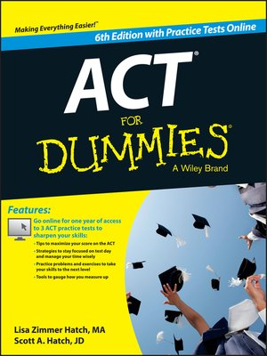 cover image of ACT For Dummies, with Online Practice Tests