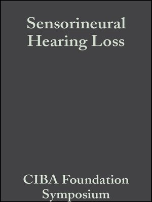 cover image of Sensorineural Hearing Loss