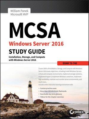 cover image of MCSA Windows Server 2016 Study Guide