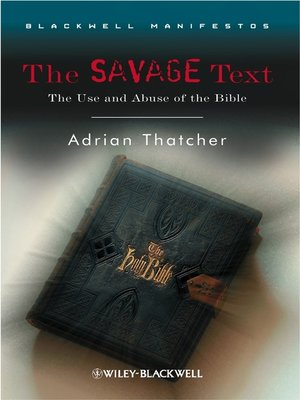 cover image of The Savage Text