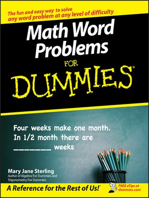 cover image of Math Word Problems For Dummies