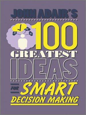 john adair decision making and problem solving pdf