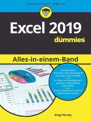 cover image of Excel 2019 Alles-in-einem-Band für Dummies