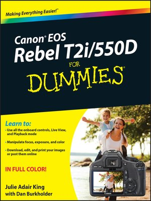 cover image of Canon EOS Rebel T2i/550D For Dummies