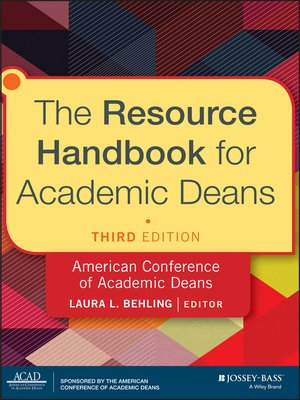cover image of The Resource Handbook for Academic Deans