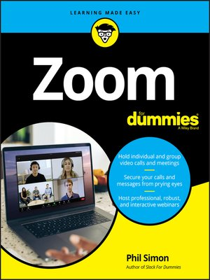 cover image of Zoom For Dummies