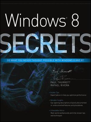 cover image of Windows 8 Secrets
