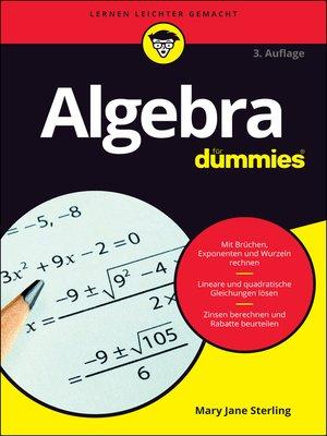 cover image of Algebra für Dummies