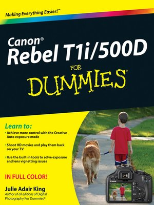 cover image of Canon EOS Rebel T1i/500D For Dummies