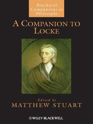 cover image of A Companion to Locke