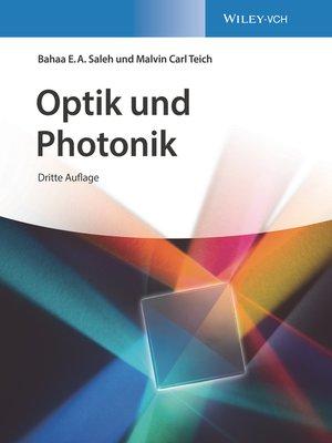 cover image of Optik und Photonik