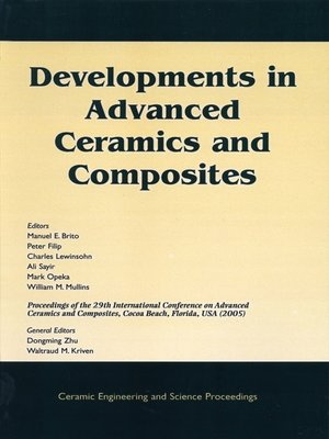 cover image of Developments in Advanced Ceramics and Composites