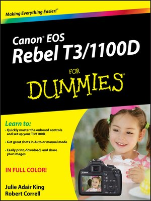 cover image of Canon EOS Rebel T3/1100D For Dummies