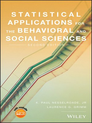 cover image of Statistical Applications for the Behavioral and Social Sciences