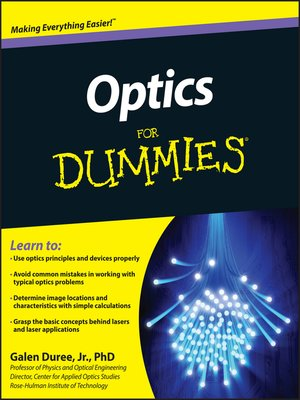 cover image of Optics For Dummies