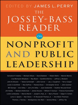 cover image of The Jossey-Bass Reader on Nonprofit and Public Leadership