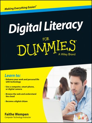 cover image of Digital Literacy For Dummies