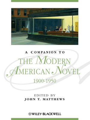 cover image of A Companion to the Modern American Novel 1900-1950
