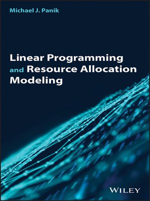 cover image of Linear Programming and Resource Allocation Modeling