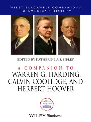 cover image of A Companion to Warren G. Harding, Calvin Coolidge, and Herbert Hoover