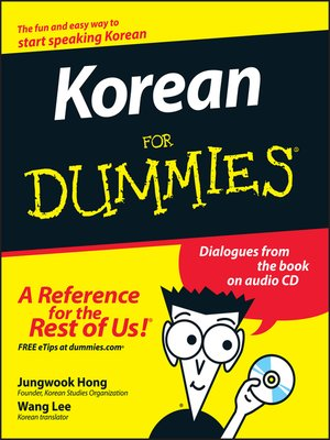 cover image of Korean For Dummies