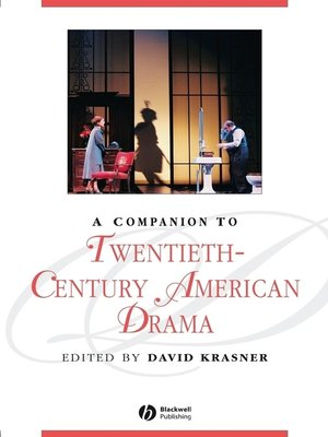 cover image of A Companion to Twentieth-Century American Drama