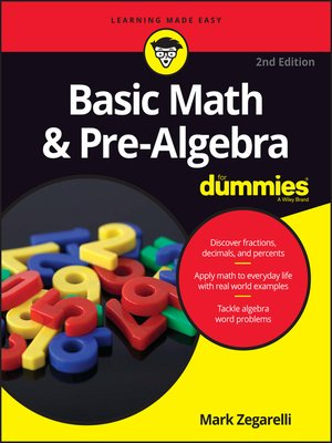 cover image of Basic Math & Pre-Algebra For Dummies