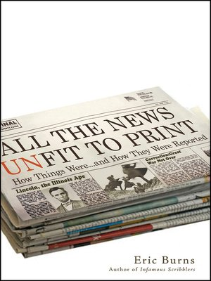 cover image of All the News Unfit to Print