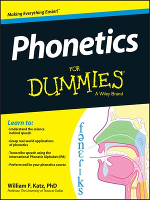 cover image of Phonetics For Dummies