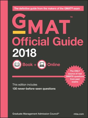 cover image of GMAT Official Guide 2018