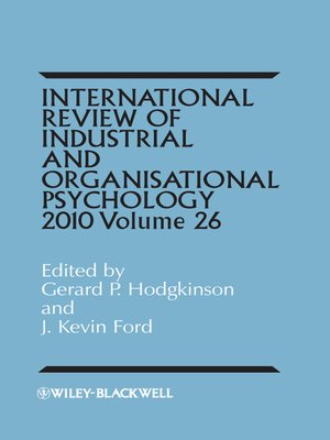cover image of International Review of Industrial and Organizational Psychology 2011