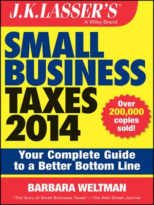 cover image of J.K. Lasser's Small Business Taxes 2014