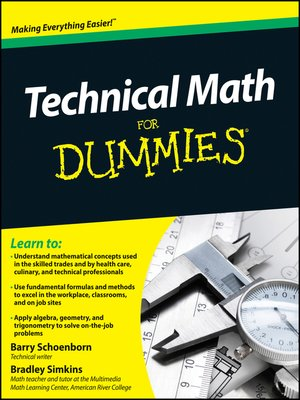 cover image of Technical Math For Dummies
