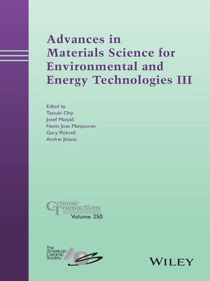 cover image of Advances in Materials Science for Environmental and Energy Technologies III