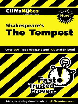 cover image of CliffsNotes on Shakespeare's The Tempest