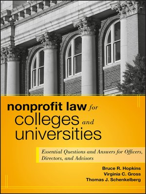 cover image of Nonprofit Law for Colleges and Universities